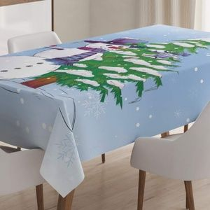 Ambesonne Christmas Tablecloth